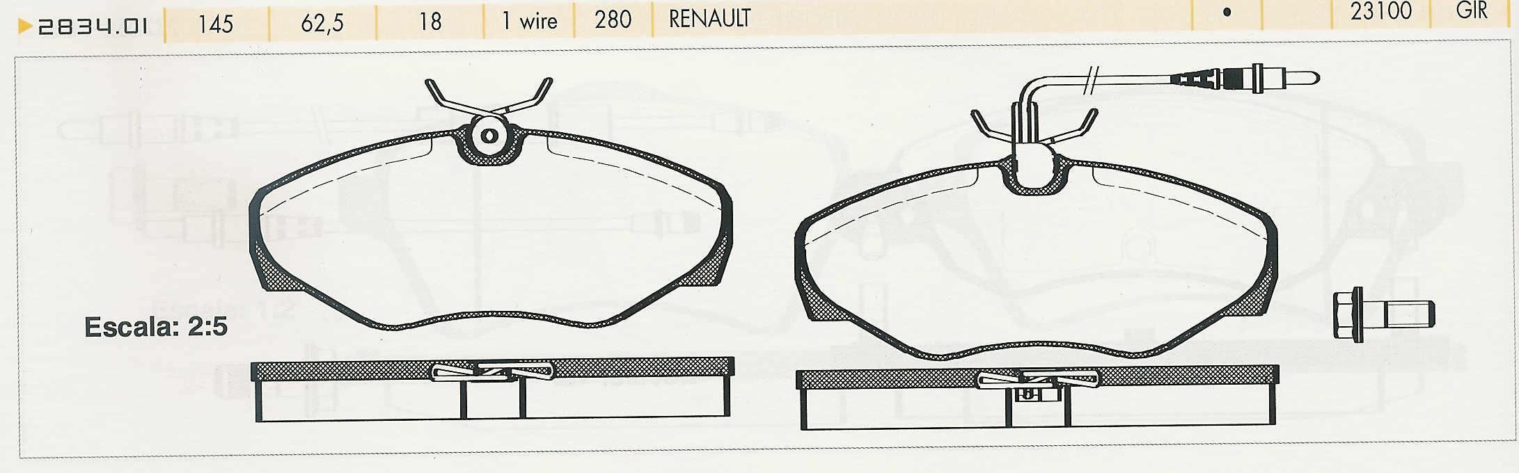 Gebrder Knechtli Autoersatzteilhandel Und Autozubehr Renault Espace Je Wiring Diagram Bremskltze Iii 30 V6 1098 0700 Vorne